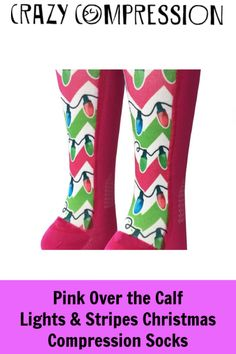 a2d668b607 Christmas Lights Compression Socks for Runners and Nurses. Fun Socks for  everyone! Compression Sleeves. Crazy Compression