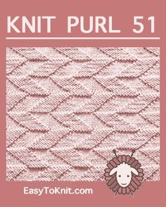 Baby Knitting Patterns Dishcloth Easy To Knit: Knit-Purl Easy Knitting Patterns, Knitting Designs, Knitting Projects, Stitch Patterns, Crochet Patterns, Knitting Ideas, Knitting Help, Knitting Charts, Lace Knitting