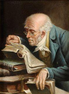 Carl Schleicher (1859-1871) Der Bücherwurm