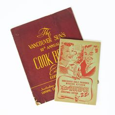 Two World War II Era Vancouver, BC, Canada Recipe Books - Wartime Home Front Life by leapinglemming on Etsy