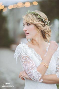 Fryzury ślubne 2014: w stylu boho