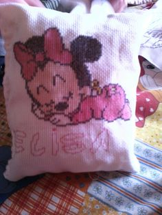 Cuscino con minnie e nome