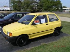 On this page we have collected some information and photos of all specifications 1990 Ford Festiva. Ford Festiva, First Car, Ford Motor Company, Cool Cars, Racing, Vehicles, Motors, Fun, Collection