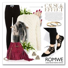 Romwe: Black Grey Plaid Tassel Classical Scarf by dressedbyrose on Polyvore featuring polyvore, moda, style, Joseph, New Look, Roger Vivier, Kate Spade, Kendra Scott, Lux-Art Silks, ASOS, Envi, fashion, clothing, casual, chic, romwe, casualoutfit and burgundy