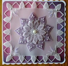 Lovely shades of lilac for this one. Barbara Gray Blog, Butterfly Dragon, Monarch Butterfly, Parchment Cards, Doily Rug, Butterfly Template, Silk Ribbon Embroidery, Animal Cards, Something Old