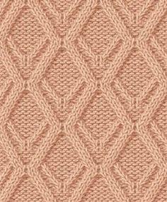 Схемы простых узоров спицами