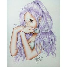 Ariana Grande sketch  Pinterest- browniemm