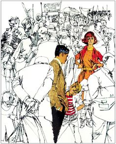 Classic illustration by Bob Peak Art And Illustration, Illustrations And Posters, Comic Kunst, Comic Art, Art Sketches, Art Drawings, Bob Peak, Urban Sketching, Storyboard