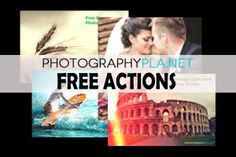 FREE Photoshop Actions!  Find these and hundreds more Photography Freebie Listings at Flourish!