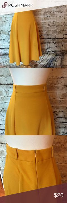 "Mustard Yellow ASOS Skirt No imperfections. Thick warm material. Total length : 27"" Asos Skirts Midi"