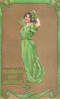 1908 vintage St Patrick's Day card