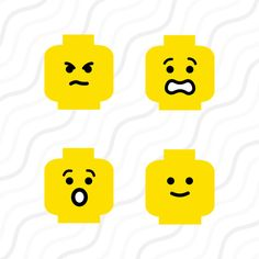 Lego Face SVG Lego SVG Lego Head SVG Cut by svgsilhouettecuts