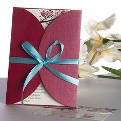 Unique Red Gatefold Wedding Cards UKF180
