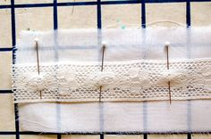 how to sew insertion lace