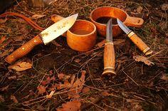 Puukko knife and kuksa