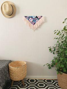 Keya | Handmade Fiber wall art | Contemporary wall art | Triangular Wall hanging | Fiber canvas art | Fabric art | Modern fiber | Home Décor