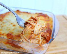 Rezepte mit Herz: Spaghetti Auflauf mit viel Käse ♡