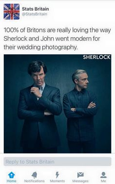 I don't ship Johnlock, but...LOL.