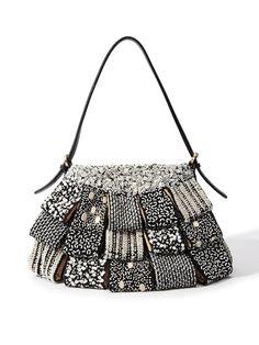 0019 ブラック Stylish Handbags, Crossbody Bag, Tote Bag, Handmade Bags, Beautiful Bags, Beaded Embroidery, Pouches, Bag Making, Bucket Bag