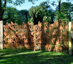 View a number of our recent exterior projects, including bespoke balustrade, public art commissions and stunning garden art. Laser Cut Screens, Laser Cut Panels, Laser Cut Metal, Laser Cutting, Garden Fence Art, Garden Gates, Cut Garden, Fence Design, Garden Design