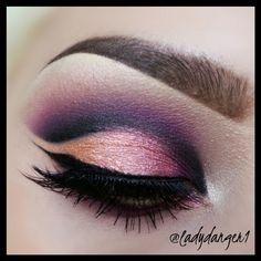 Pink purple cut crease