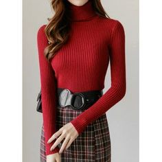 Korean Look, Turtleneck Outfit, Lace Tee, Roll Neck, Korean Women, Ribbed Sweater, Lace Sleeves, Cute Dresses, Korean Fashion
