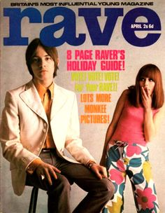 RAVE MAGAZINE APRIL 1967. (IMAGE SCANNED BY SWEET JANE) - Steve Marriott from Humble Pie & Small Faces