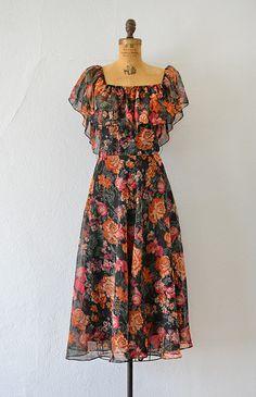 Shop Feminine Timeless French Style Inspired By Vintage Clothing : vintage black orange floral chiffon ruffle dress Girls Frock Design, Long Dress Design, Stylish Dress Designs, Designs For Dresses, Stylish Dresses, Casual Dresses, Frock Fashion, Indian Fashion Dresses, Indian Gowns Dresses