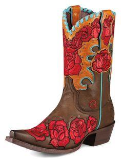 Womens Ariat Diesel Boots Chocolate #10008771