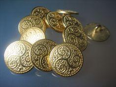 Metallknöpfe -    10 orientalische Metall-Knöpfe - 15mm - ein Designerstück von BeadsandButtons bei DaWanda