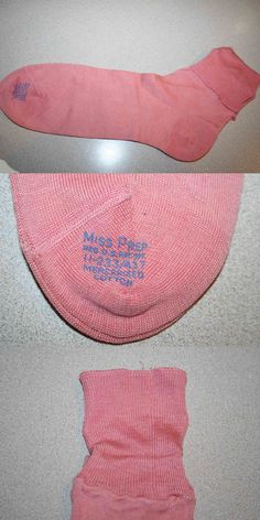 Pantyhose and Stockings 182053: Pink Miss Prep Vintage 40S 50S Nos Mercerized Cotton Rockabilly Socks Anklets -> BUY IT NOW ONLY: $48 on eBay!