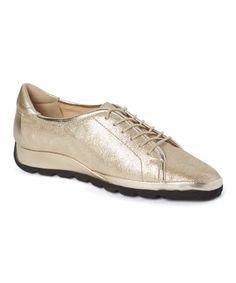 Love this Beige Metallic Ercole Leather Sneaker on #zulily! #zulilyfinds