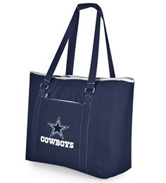 The Dallas Cowboys Tahoe is an Extra Large Insulated Tote. Has 1.25 cubic inches of interior storage space, enough to hold up to 48-12 ounce cans.  Fully insulated to keep your foods and drinks cold for hours. Has a PVC heat sealed, water resistant interior liner, which is perfect for transporting wet pool towels, swim suits or to carry cold drinks.