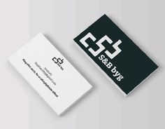 "Check out new work on my portfolio: ""S&B byg (mason and… Construction Firm, Working On Myself, New Work, Drink Sleeves, Behance, Graphic Design, Check, Cards, Maps"