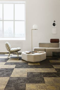 Discover our woven vinyl floors, available in different colours and shapes. Bolon Flooring, Vinyl Flooring, Three Dimensional, Light In The Dark, Different Colors, Colours, Shapes, Create, Interior