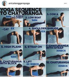 Yoga sequence to chaturanga