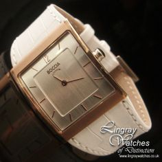 Boccia Ladies White Leather Rose Gold Titanium Watch - B3143-02  RRP: £100.00 Online price: £85.00 You Save: £15.00 (15%)  www.lingraywatches.co.uk