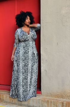Plus-size wrap dress styles from Rachel Pally White Label collection.
