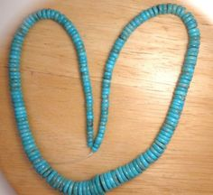 4mm-to-10mm-Graduated-Rondelle-Chinese-Tourquoise-Loose-Beads-18-Std-5371