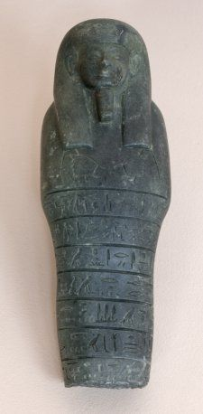 Shawabti inscribed for the Chief of Miam, Heqanefer | Echoes of Egypt | Yale Peabody Museum. From his own tomb. Hekanefer also shown in tomb of (Amenhotep) Huy, Viceroy of Kush under Tutankhamun.