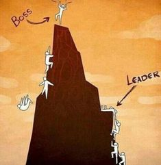 The Difference Between a Boss and a Leader. A boss manages their employees, while a leader inspires them to innovate, think creatively, and strive for perfection. Every team has a boss, but what people need is a leader who will help them achieve greatness Boss Vs Leader, Leader Vs Manager, Fun Photo, Pictures With Deep Meaning, Art With Meaning, Satirical Illustrations, Meaningful Pictures, Deep Art, Great Leaders