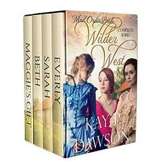 Mail Order Bride Box Set – Wilder West Series. This is a collection of 4 clean western romance stories in the Wilder West Series by Kay P. Dawson.