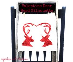 Heart Antlers Deer Head Silhouette Download and Tutorial from Cupcakes and Crinoline