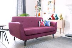 #bold #bright #pink #sofa - #livingroom