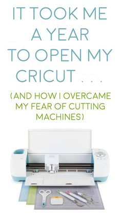 I was afraid of cutting machines so I didn't open my Cricut Explore for a year. Don't be like me! Learn how to use this AWESOME machine! via @diy_candy