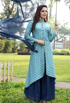 At Nikvik, we have a #huge #collection of the #Readymade #Salwar Kameez suits in a variety of styles.  #Nikvik is the #bestseller of Readymade Salwar #Kameez #suit in #USA #AUSTRALIA #CANADA #UAE #UK Readymade Salwar Kameez, Salwar Kameez Online, Churidar, Palazzo Dress, Palazzo Suit, Blue Art, Aqua Blue, Anarkali, Lehenga