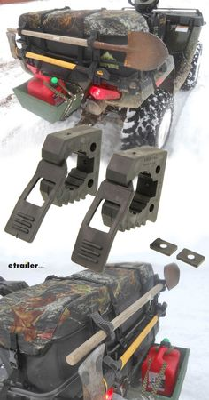 These clamps are great for carrying extra gear on your ATV or UTV. The clamps also have many other uses, from the home and the garage or the basement to an RV, boat, four-wheelers, ATV's. Whatever your need may need may be, this mount will work. The Quick Fist Original Clamps are made in the United States from heavy duty, transportation grade rubber.