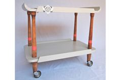 Earl Grey - Upcycled tea trolley by Hector & Bailey Tea Trolley, Earl Gray, Upcycle, Entertaining, Interior Design, Grey, Shopping, Stuff To Buy, Furniture