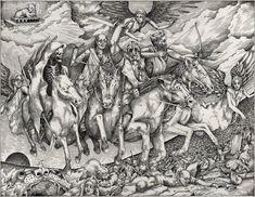 giống con nghê ở trên đầu vậy Four Horsemen of the Apocalypse by AC44 on deviantart.com