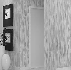 Papel De Parede Paisagem Modern Vertical Stripe Embossed Flocking Non-Woven Wallpaper Living Room Bedroom Backdrop Tapety Plain Grey Wallpaper, Silver Wallpaper, Cheap Wallpaper, Striped Wallpaper, Modern Wallpaper, Home Wallpaper, Textured Wallpaper, Interior Wallpaper, Bedroom Wallpaper